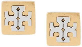 Tory Burch logo square earrings
