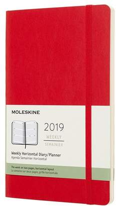 Moleskine 12M WEEKLY HORIZONTAL LARGE SCARLET RED SOFT COVER