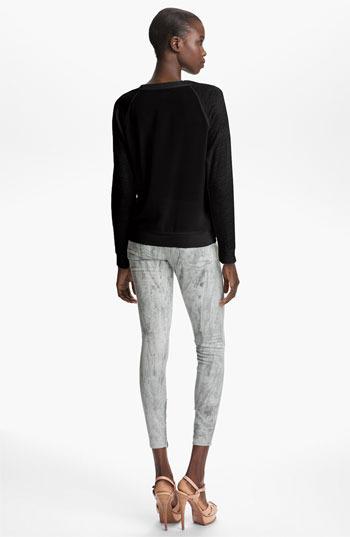 Majestic Silk Back Sweatshirt
