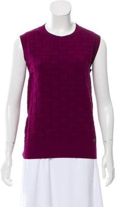 Chanel Patterned Cashmere Top