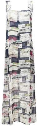 Oscar de la Renta Mykonos postcard print dress