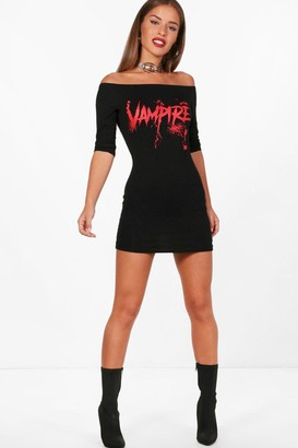 boohoo Petite Charlotte Halloween Vampire Dress