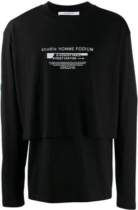 Givenchy double hem long-sleeved T-shirt
