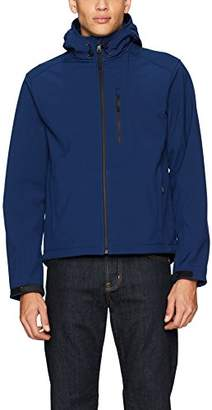 William Rast Men's Hooded Soft Shell Rip Stop Jacket