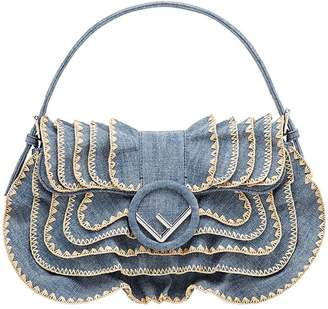 Fendi denim frill bag