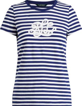 Ralph Lauren Embroidered-Lace T-Shirt