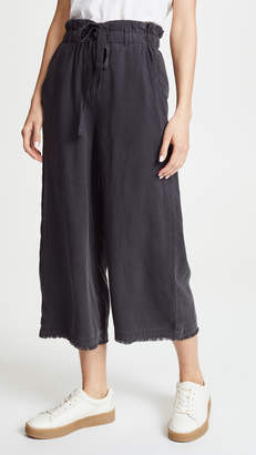 Bella Dahl Frayed Crop Wide Leg Pants