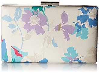 Calvin Klein Saffiano Floral Printed Box Clutch