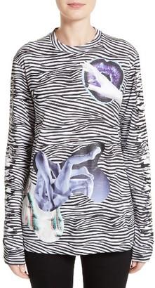 Women's Proenza Schouler Zebra Print Jersey Tee $695 thestylecure.com