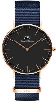 Daniel Wellington 36mm Classic Bayswater Watch w/ Nylon Strap