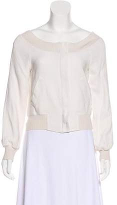 Alberta Ferretti Cropped Zip-Up Jacket