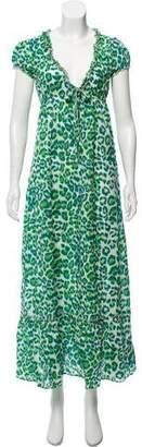 Dolce & Gabbana Leopard Print Maxi Dress