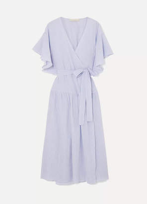 Vanessa Bruno Lolita Cotton-gauze Wrap Dress - Blue