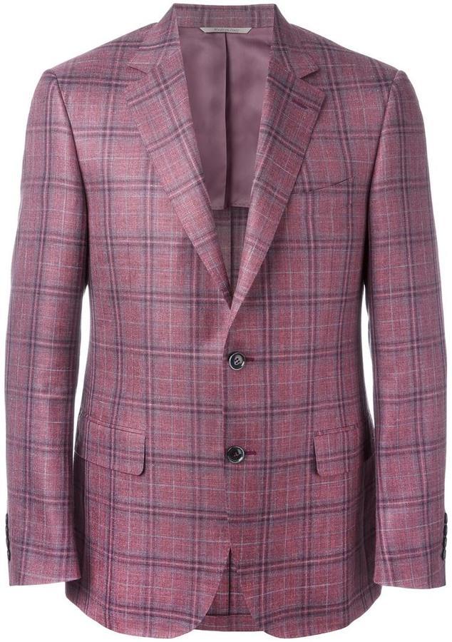 CanaliCanali plaid blazer