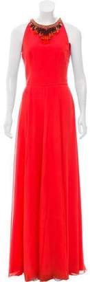 Matthew Williamson Embellished Chiffon Dress