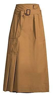 Max Mara Women's Belted High-Waist Midi Skirt