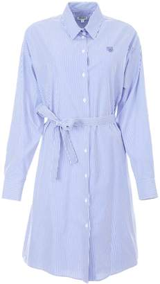 Kenzo Shirt Dress With Tiger Embroidery
