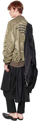 Juun.J Oversize Embroidered Nylon Bomber Jacket