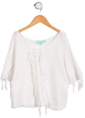 Melissa Odabash Girls' Knit Scoop Neck Top