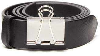 Vetements Paper Clip Leather Belt - Mens - Black