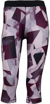 Reebok Womens Gymana Capri Training Tights Shell Purple