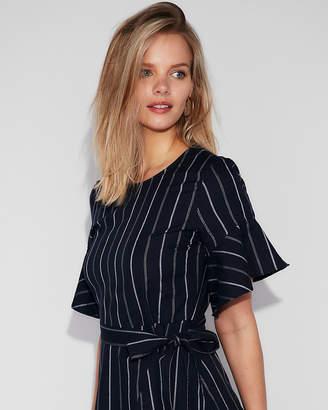 Express Petite Striped Wrap Cotton Dress