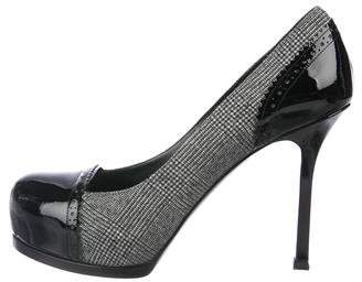 Saint Laurent Tribute Two Houndstooth Pumps w/ Tags