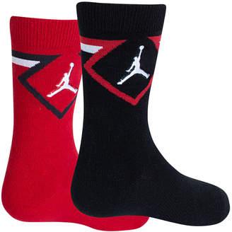 Jordan Little & Big Boys 2-Pk. Diamond High Crew Socks