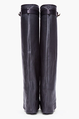 Givenchy Black Leather Shark Tooth Boots