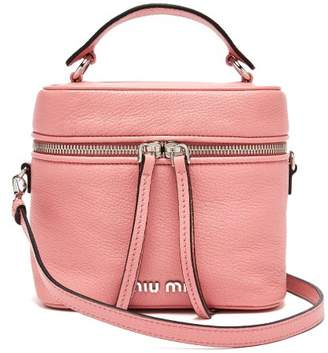 a0ba4d0a9943 Miu Miu Leather Cross Body Beauty Case - Womens - Light Pink
