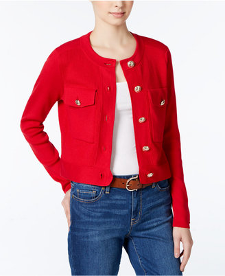 Tommy Hilfiger Cropped Cardigan, Only at Macy's $129.50 thestylecure.com