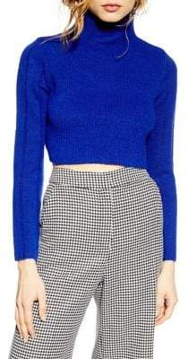 Topshop PETITES Funnel Neck Cropped Sweater