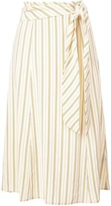 Rag & Bone striped belted skirt