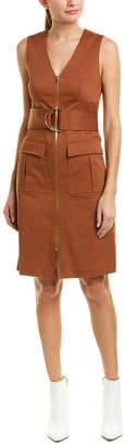 Diane von Furstenberg Zip-Front Sheath Dress