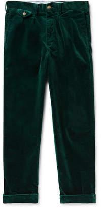 Polo Ralph Lauren Wide-Leg Pleated Stretch Cotton-Corduroy Trousers