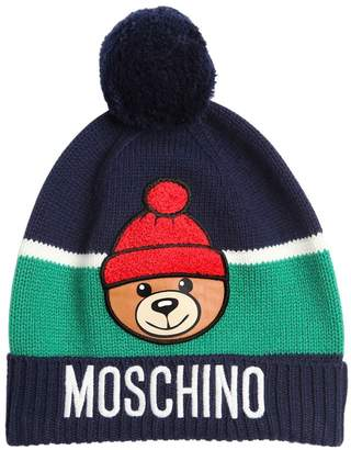 Moschino POM POM ACRYLIC BLEND KNITTED HAT