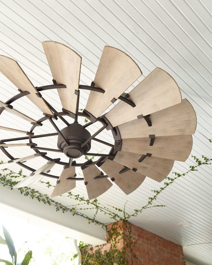 """Windmill Bronze 60"""" Outdoor Ceiling Fan"""