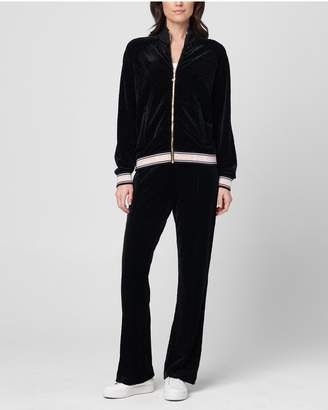 Juicy Couture Textured Velvet Track Pant