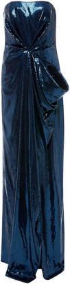 Prabal Gurung Strapless Draped Column Gown