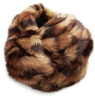 Gucci Leopard Faux Fur Turban