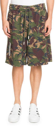 Off-White Off White Oversized Camouflage-Print Shorts