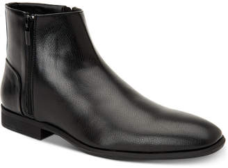 Calvin Klein Men's Luciano Tumbled Leather Zip Boots Men's Shoes