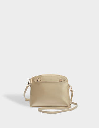 Furla Piper XL Crossbody Pouch Bag in Gold Ares Leather