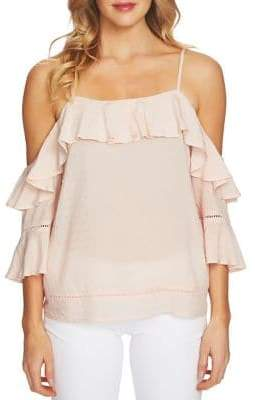 CeCe Off-The-Shoulder Ruffle Blouse