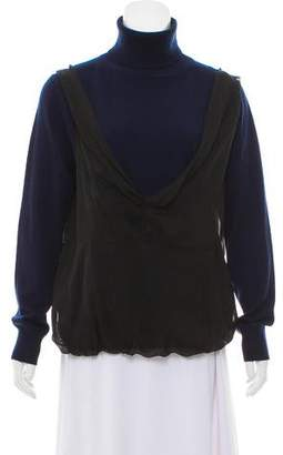 Dries Van Noten Draped Cashmere Sweater w/ Tags