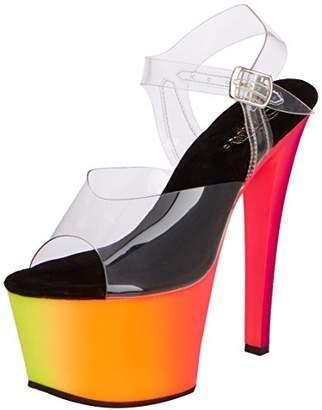 Pleaser USA Women's Rbow308uv/C/Nmc Platform Dress Sandal