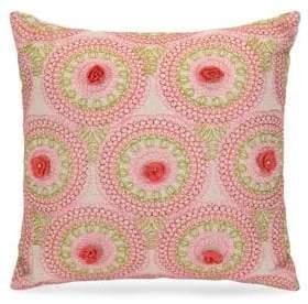 Jessica Simpson Medallion Crochet Cushion