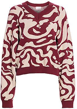 Nanushka Women's Devon Jacquard Knit Sweater