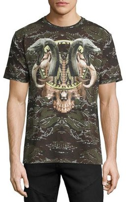 Marcelo Burlon Camo Snake Graphic T-Shirt, Green $310 thestylecure.com