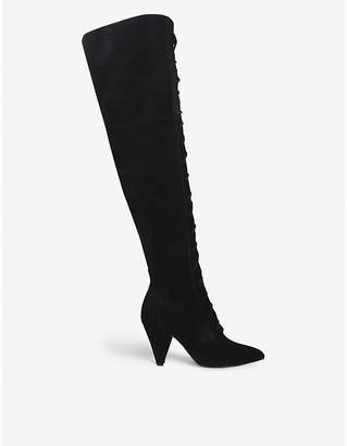 Kurt Geiger London Veronica suede thigh boots